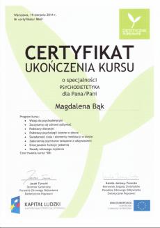 Magdalena Bąk psycholog